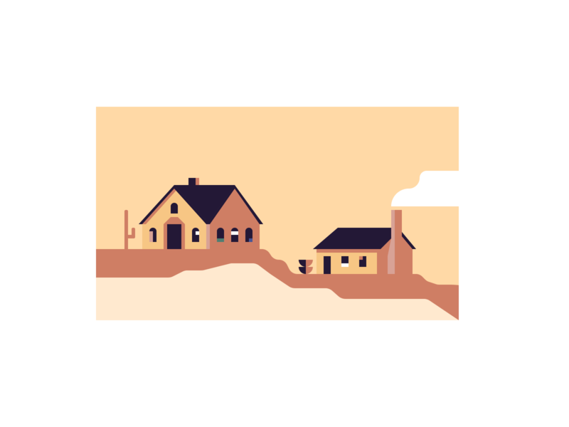 🌵Arizona Home Illustration #2  ☀️ home illustration infographic branding design houses isometric illustration sunset desert sibi isometric property management house illustration house branding flat minimal color study abstract geometric art illustration geometric shapes