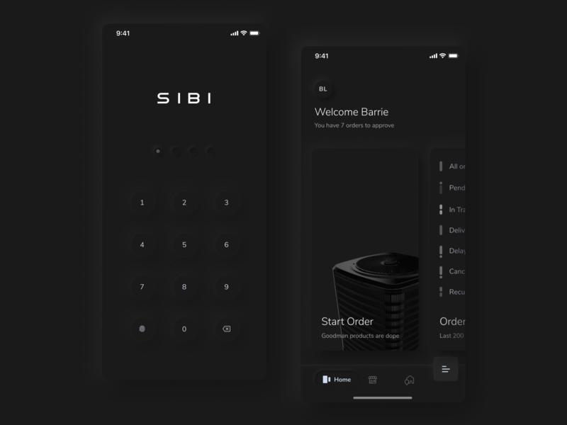 SIBI Mobile App - Dark Mode app dark ui dark app iphone mobile soft ui neumorphism neumorphic shadow mobile ui dark mode dark app design