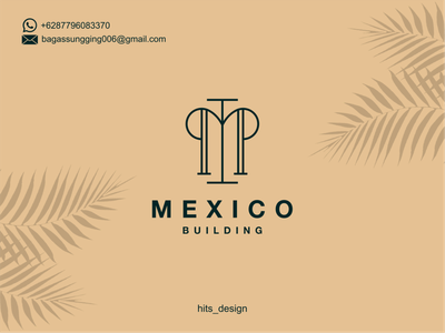 BUILDING typography logo illustration icon design branding