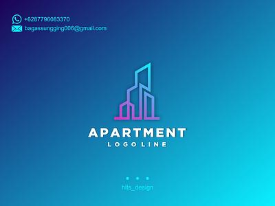 APARTMENT typography logo illustration icon design branding