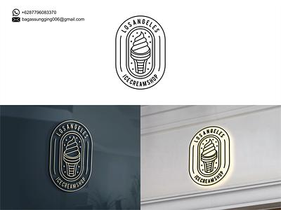 ICE CREAM ice cream graphic design typography logo illustration icon design branding