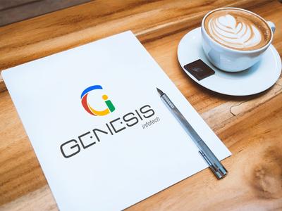Genesis Infotech logo design