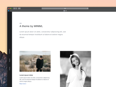 AIR - A blog and portfolio theme