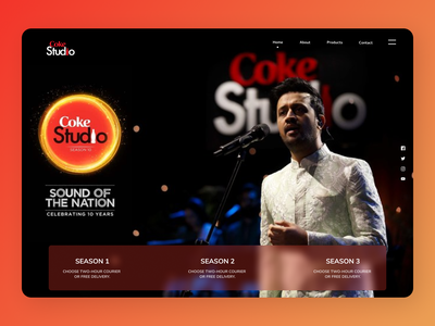 Coke Studio newdesign web ux new shopify creative clean design clean design ui