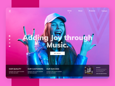 Music Web branding newdesign web new shopify creative clean design clean ui ux design