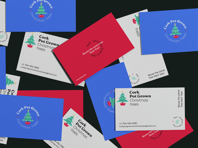 Branding Design for Cork Pot Grown Christmas Trees tree christmas print leaflet flyer business card logo branding