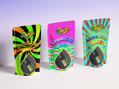 Branding & Packaging Design for CannaLotion retro vintage pouch design lotion cannabis logo bags packaging