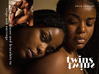 Branding Design for Twins typography vector luxury minimal twins jewelry branding logo
