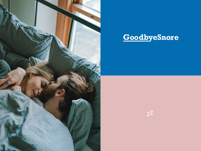 Branding & Packaging Design for GoodbyeSnore typography colorful identity sleep snore branding logo