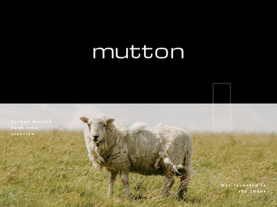 Branding Design for Mutton. branding mark typogaphy logo design logo