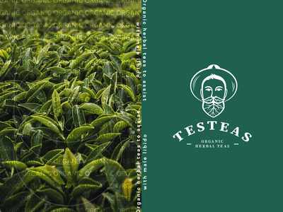 Branding & Packaging Design for Testeas organic typography vector leaves man branding label packaging tea logo