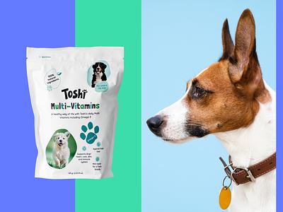 Branding & Packaging Design for Toshi. dog bag food illustration packaging branding