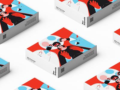 Branding & Packaging Design for AID Kit. design illustrated mailer box packaging branding