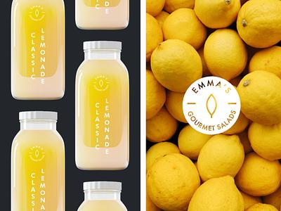 Seasonal Lemonade bottle beverage food drinks lemonade packaging label branding