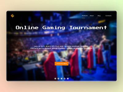 Online Gaming Tournament dashboard dashboard ui new dailyui minimal website web ui ux design