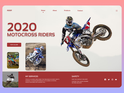 Motorbikes Race typography new minimal branding dailyui website web ux ui design