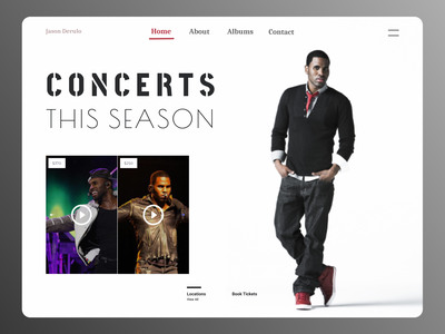 Concerts Web branding dashboard ui new dailyui design minimal website web ux ui