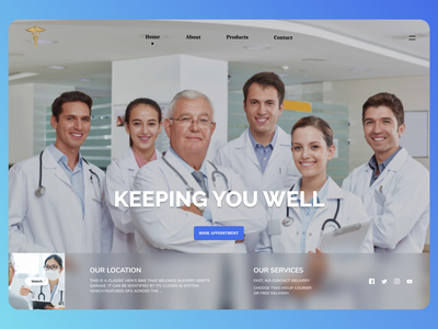Doctors Landing Page online typography design new dailyui minimal ui website web ux