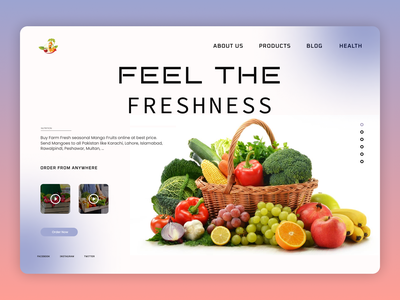 Grocery Online trend shot new typography dailyui minimal website design web ux ui