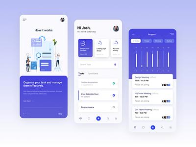 Team Management App efficiency work management team minimal ui ux simple flat design app