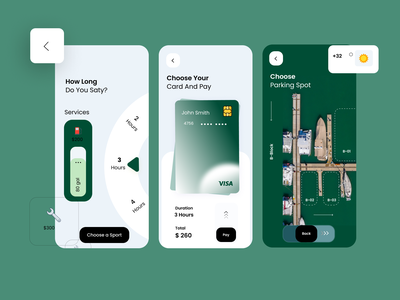 Boat Parking booking App app ux ui design
