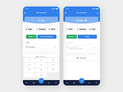 Money Transaction App minimal flat ui ux design app