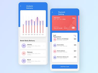Delivery Analysis App minimal flat ui ux design app