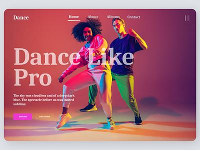 Dance Training Web Design cleandesign minimal web uiux online clean ui clean new book ui flat ux design