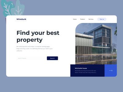 Real Estate Web Design new web uiux clean ui cleandesign clean minimal ux ui design