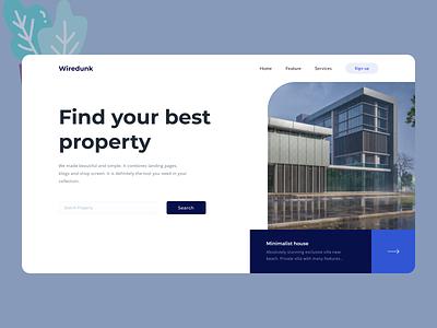 Real Estate Web Design new web uiux clean ui cleandesign clean minimal ux ui design
