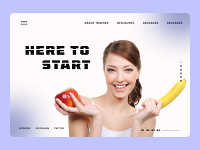 Diet Maintenance web Design online new uiux clean ui cleandesign clean minimal ux ui design