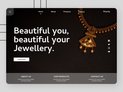 Jewelry Landing Page online uiux new clean clean ui cleandesign minimal design ux ui