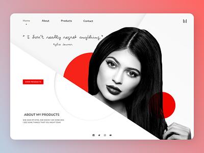 Models Perosona web online new clean uiux minimal clean ui cleandesign ux design