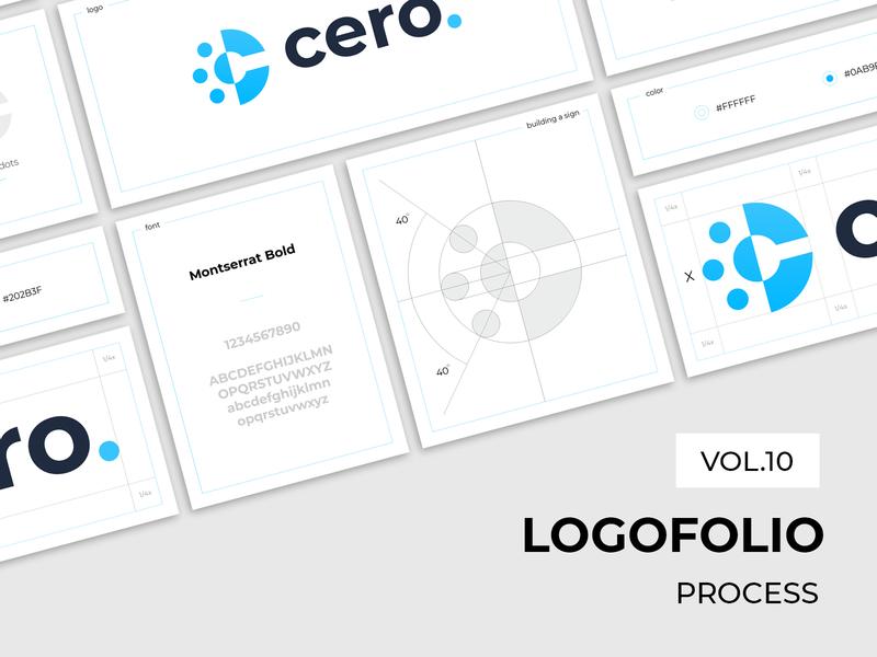 Logofolio (vol.10). Process. graphic design branding construction process collection logofolio selection sign