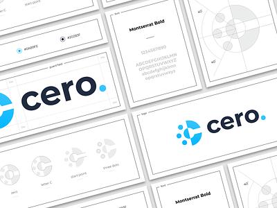 Cero hiwow branding point start zero letter sign logo