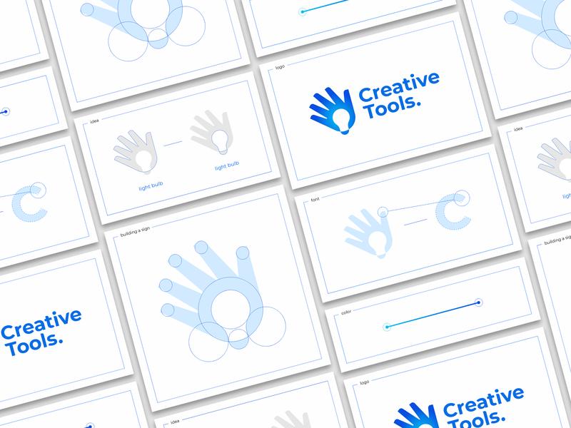 Creative Tools. logo sign branding building color idea font light bulb palp