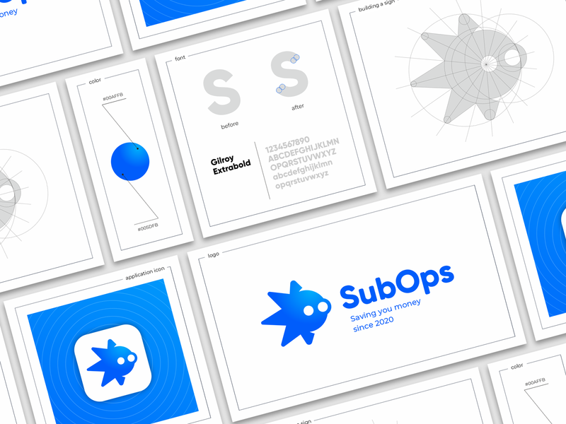 Sub Ops sea build octopus icon font sign character branding logo