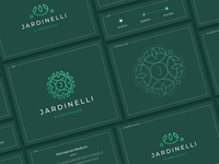 Jardinelli icon font construction presentation circle green heraldry bouquet berries j letter coat of arms pattern leaves delivery store flowers logo sign