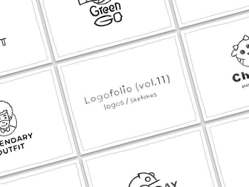 Logofolio (vol.11) Logos & Sketches cartoon behance logofolio project process branding sketch character illustration sign