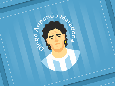 Diego Armando Maradona illustration diego history football player soccer flat argentina football legend maradona
