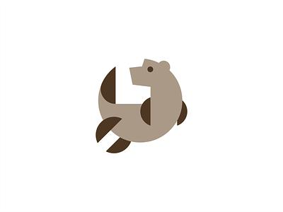 OTTR cute animal nutria otter sign branding