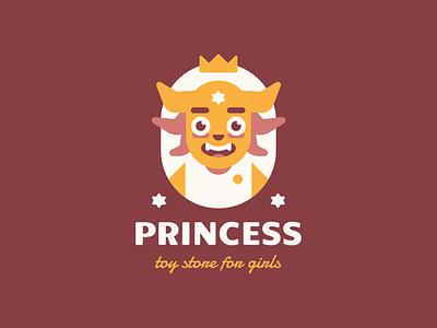 Princess cartoon toys cute star horns monster crown queen princess character branding sign