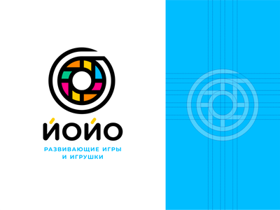 Yo-Yo icon building circle kids yo-yo toy branding sign