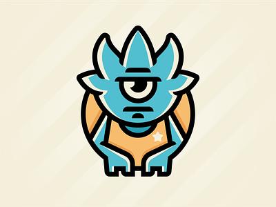 Monstro bad star cute cartoon evil character monster branding
