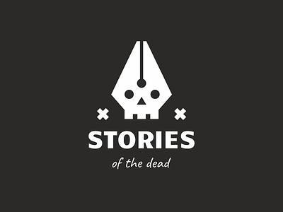 Stories of the dead dead history ink skull pen branding sign