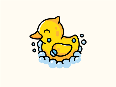 Duckling a toy purity soap bubble bath duck duckling graphic design illustration