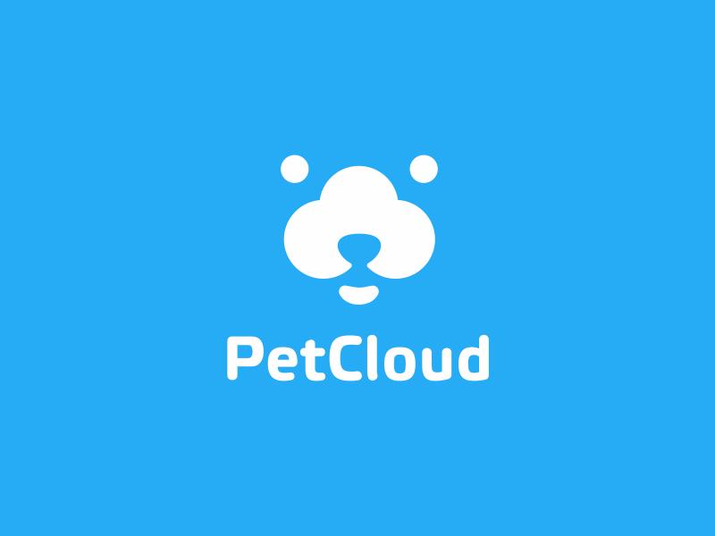 PetCloud logo dog pet animal cloud