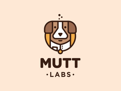 Mutt Labs lab doctor beaker flask laboratory dog character logo