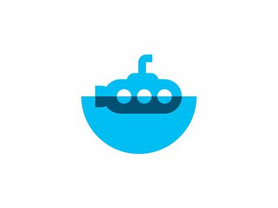 Submarine logo icon periscope water submarine