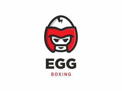 Egg Boxing boxing helmet crack illustration egg logo